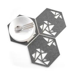 filcowe,szare,na stół,pod talerz,wycinane laserowo - Inne - Wyposażenie wnętrz