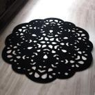 Inne dywan,z filcu,serwetka,ażurowy,czarny