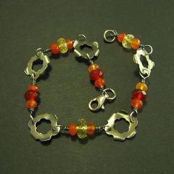 bransoletka,delikatna,kolorowa,kwiaty - Bransoletki - Biżuteria