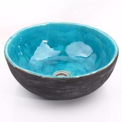 umywalka,umywalka z gliny,ręcznie robiona - Ceramika i szkło - Wyposażenie wnętrz