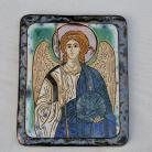 Ceramika i szkło Beata Kmieć,anioł,ikona ceramiczna,obraz