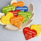 Magnesy na lodówkę serce,magnes,podziękowania,wesele,ślub