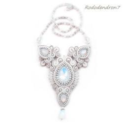 biżuteria ślubna,panna młoda,ślubny naszyjnik - Naszyjniki - Biżuteria