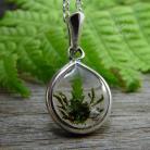 Wisiory srebrny,delikatny,natura,żywica,łezka