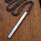 Naszyjniki minimalistyczny,nowoczesny,matowy,surowy,srebrny