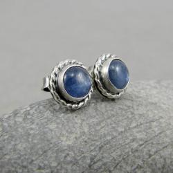 drobne,sztyfty,okrągłe,z oczkiem,boho,retro - Kolczyki - Biżuteria
