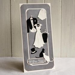 kartka,ślub,wesele,na prezent - Kartki okolicznościowe - Akcesoria