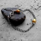 Bransoletki delikatna,subterlna,łańcuszkowa,z perłą,srebrna