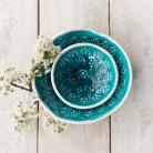 Ceramika i szkło miska,komplet misek,turkus,ceramika,szkliwo