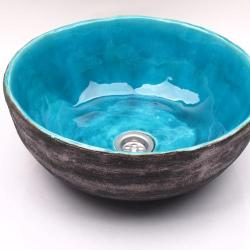 umywalka z gliny,umywalka ręcznie robiona - Ceramika i szkło - Wyposażenie wnętrz