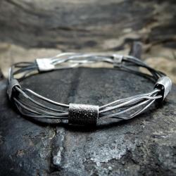 srebro,kuty,surowy - Bransoletki - Biżuteria