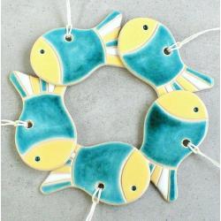 rybka,zawieszka,świąteczna,choinkowa - Ceramika i szkło - Wyposażenie wnętrz
