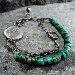 sznur turkusów,bransoletka z turkusami - Bransoletki - Biżuteria