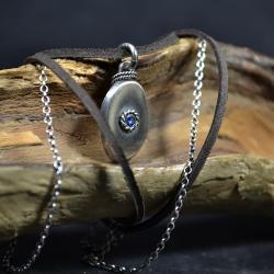 wisior z cyrkonią,surowy wisior - Naszyjniki - Biżuteria