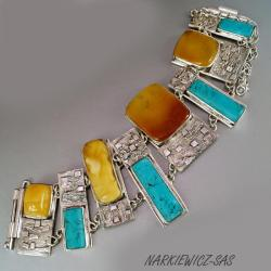 bransoleta z bursztynem - Bransoletki - Biżuteria