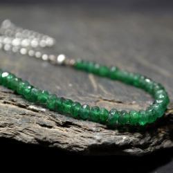 naszyjnik w butelkowej zieleni - awenturyn - Naszyjniki - Biżuteria
