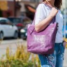 Na ramię torba,skórzana,fioletowa,na ramię,duża