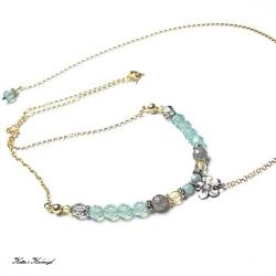 delikatny,pastelowy,smycz - Naszyjniki - Biżuteria