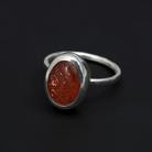 Pierścionki kamień słoneczny,pierścionek,srebrny,delikatny