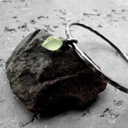nowoczesna,okrągła,surowa,organiczna,z kamieniem, - Bransoletki - Biżuteria