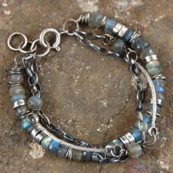 bransoleta z labradorytów - Bransoletki - Biżuteria