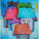 Obrazy miasteczko,bajka,kolor