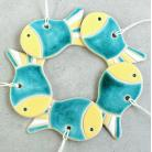 Ceramika i szkło rybka,zawieszka,świąteczna,choinkowa