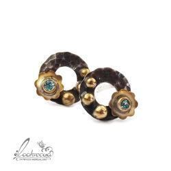 kwiatowe,srebrne kolczykikwiaty,srebrne sztyfty - Kolczyki - Biżuteria