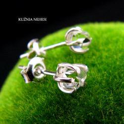Nehesi,Kolczyki,ze Srebra,wkrętki,diamenty - Kolczyki - Biżuteria