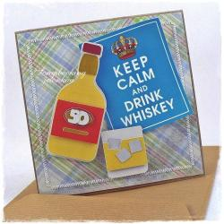 wódka,whisky,urodziny,butelka - Kartki okolicznościowe - Akcesoria