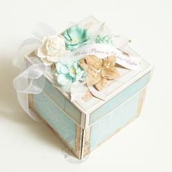 exploding box,ślub,tort,torcik - Kartki okolicznościowe - Akcesoria