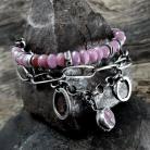 Bransoletki Bransoletka - srebro i rubiny