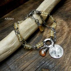 cytryn,srebro,minimalistyczna - Bransoletki - Biżuteria