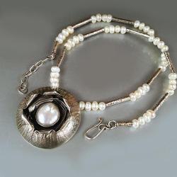 naszyjnik z perłą - Naszyjniki - Biżuteria
