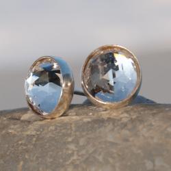 drobinki,kolczyki,sztyfty,srebrne,naprezent,artsek - Kolczyki - Biżuteria