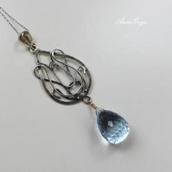 romantyczny,elegancki,secesyjny,kobiecy - Wisiory - Biżuteria