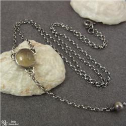 naszyjnik,topaz,minimalistyczny,srebro, - Naszyjniki - Biżuteria