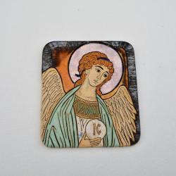 Beata Kmieć,Anioł,Stróż,ikona,ceramika,obraz - Ceramika i szkło - Wyposażenie wnętrz