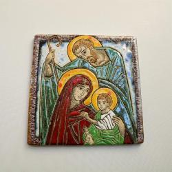 Beata Kmieć,ikona,ceramika,obraz,św. Rodzina - Ceramika i szkło - Wyposażenie wnętrz