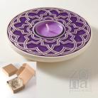 Ceramika i szkło lampion,świecznik,roślinny,ornament,misterny