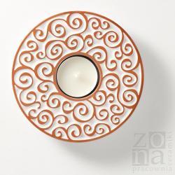 lampion,świecznik,ceramika,dekoracja,prezent - Świeczniki - Wyposażenie wnętrz