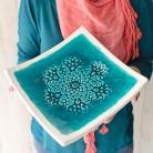 Ceramika i szkło ceramika,patera,talerz,koronka