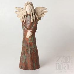 anioł,postać,rzeźba,dekoracja,figurka,prezent - Ceramika i szkło - Wyposażenie wnętrz