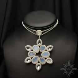 kolia,gwiazda,ślub,frozen,śnieżynka,kolia,cyrkonie - Naszyjniki - Biżuteria