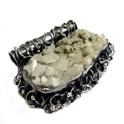 okaz,fluoryt,srebro,ciężki,okazały,blask,seledyn - Wisiory - Biżuteria