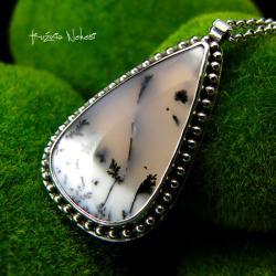 Nehesi,naszyjnik,srebrny,srebrne,dendrytowy - Naszyjniki - Biżuteria