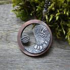 Naszyjniki yin yang,srebrny,miedziany,zen,okrągły,RadeckaArt