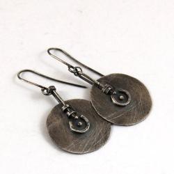 srebrne kolczyki tarcze - Kolczyki - Biżuteria