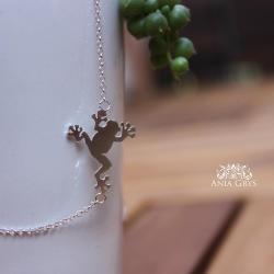 żaba,żabka,frog,naszyjnik,zawieszka,wisiorek - Naszyjniki - Biżuteria
