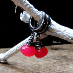 różowe kolczyki - Kolczyki - Biżuteria